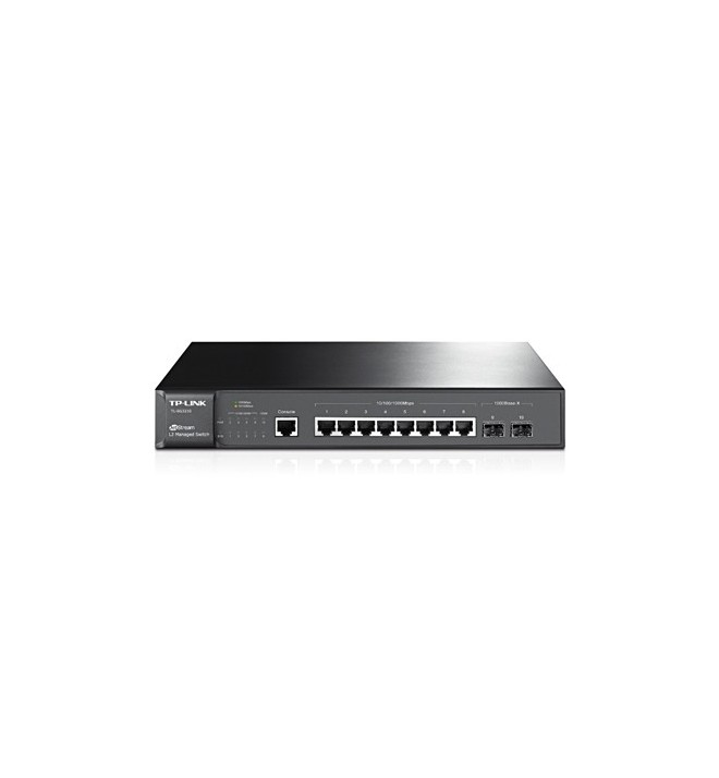Switch-uri 5881 Switch L2 cu management 8 Porturi 10/100/1000M, 2 slot SFP gigabit TL-SG3210 TP-LINK